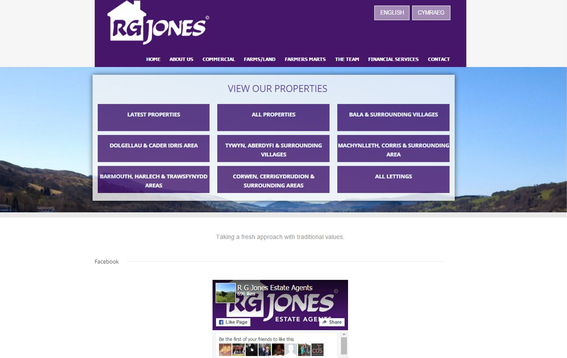 R G Jones website screenshot